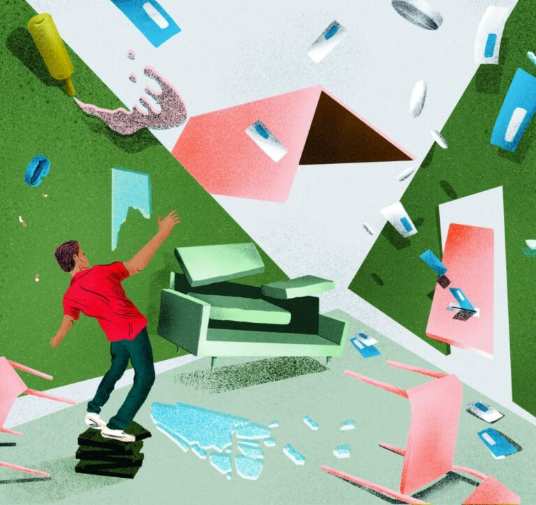 Kansfonds - animatie afbeelding chaos - in kleur