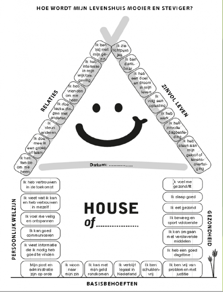 illustratie Levenshuis volgens House of Hope