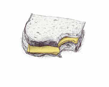 Illustratie boterham - dakloos in tijden van corona